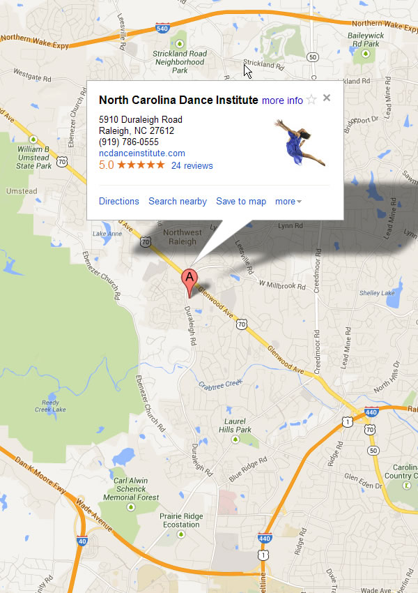North Carolina Dance Institute Location