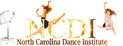 North Carolina Dance Institute showing NCDI alumni Emily Nicolau (currently performing with Danish Dance Theatre in Copenhagen) and Lindsey Matheis (currently performing with Northwest Professional Dance Project in Portland)